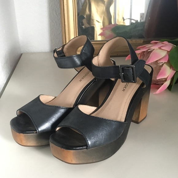 Anthropologie Shoes - Anthropologie Kelsi Dagger ankle strap chunky heel